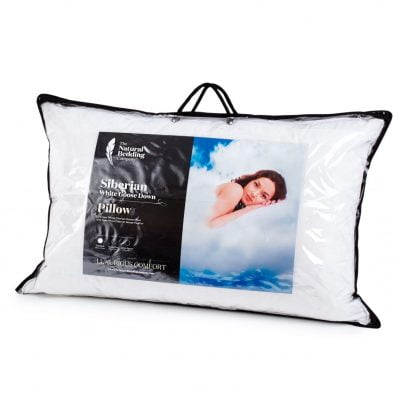Siberian White Goose Down Pillow