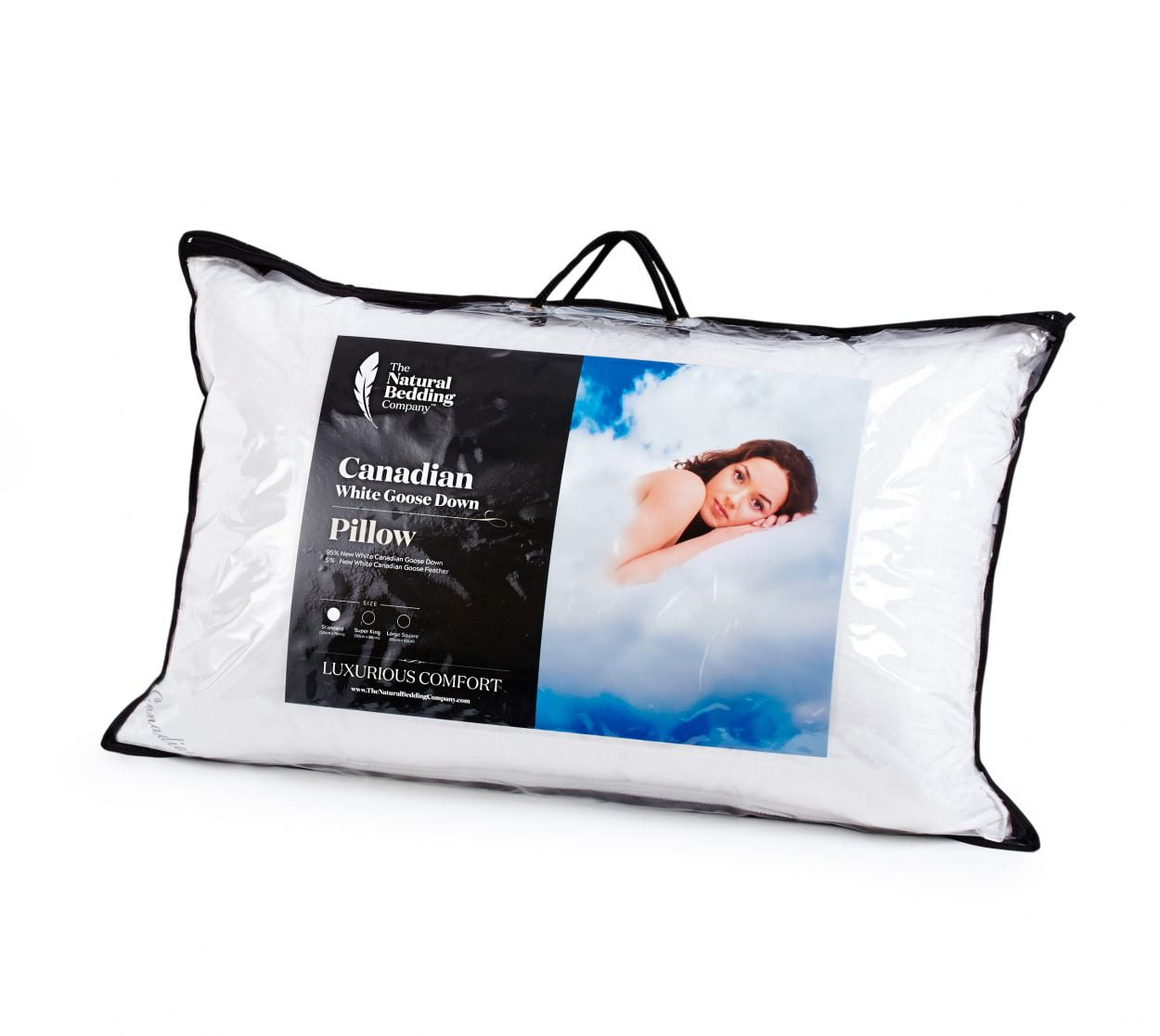 Canadian White Goose Down Pillow The Natural Bedding Company