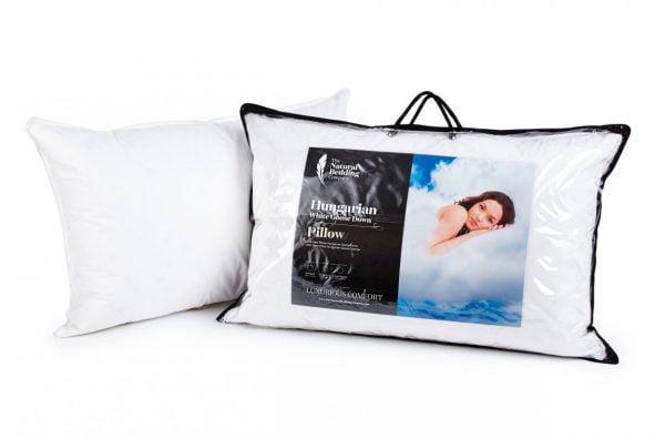 Hungarian White Goose Down Pillow