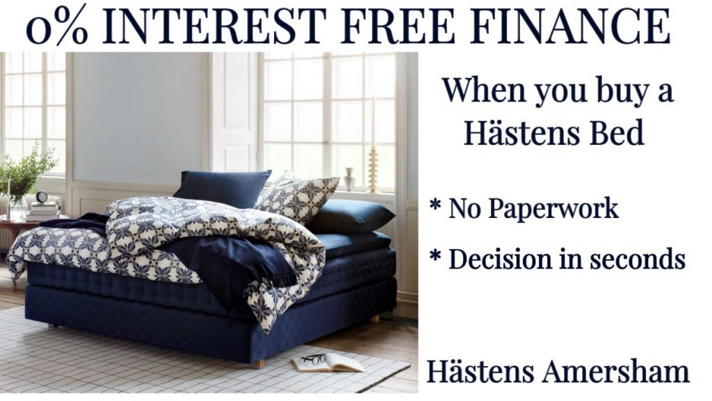 hastens beds on interest free finance calculate