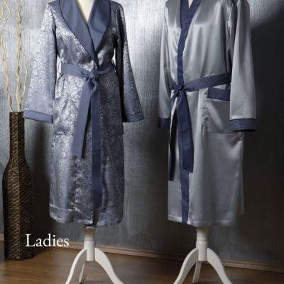 Marine Silk Dressing Gown