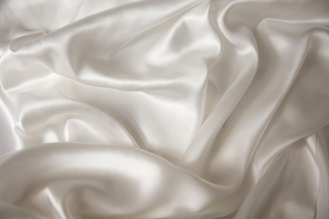 Silk Pillowcase Ivory The Natural Bedding Company
