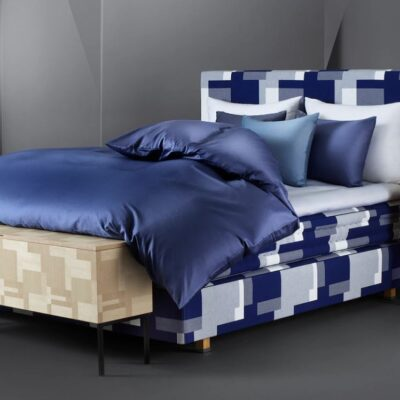 Hastens Satin Pure Night Shadow Blue Duvet Cover