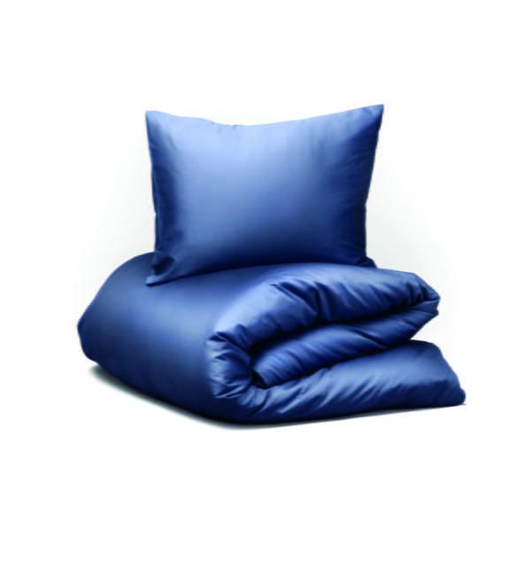 Hastens Satin Pure Night Shade Blue Duvet Cover