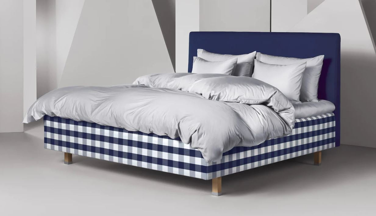 Hastens Satin Pure Silver Grey