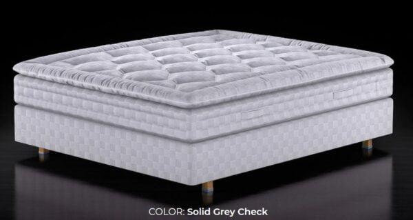 Solid Grey Mattress Topper
