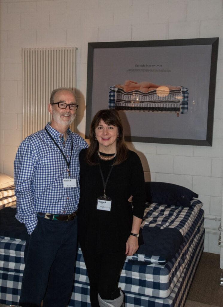Hastens Showroom Richard and Antonetta Kaye